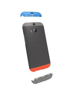 Htc Double Dip Case For Htc One (M8)   Retail Packaging   Grey/Smoke Grey/Orange by Htc