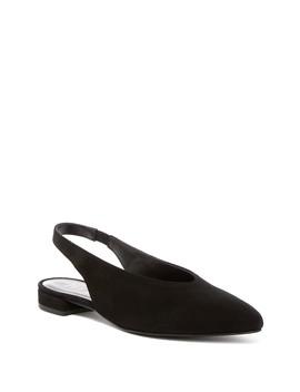 Prim Pointed Toe Slingback Flat by Ivy Kirzhner