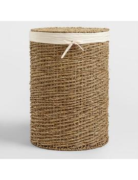 Trista Seagrass Round Hamper by World Market