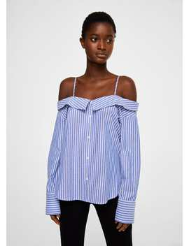 Cold Shoulder Blouse by Mango