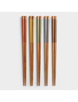 Stripe Chopsticks, 2 Sets by World Market