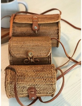 Zhierna Vintage Straw Clutch Bags Small Rattan Handbags Luxury Designer Women Messenger Bags Handmade Hand Bags by Zhierna Sunnyer Store