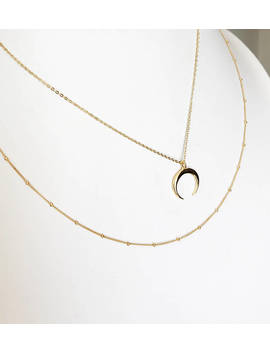 The Golden Crescent Necklace by Etsy