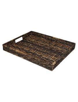 Banana Leaf Rectangle Decorative Tray   Dark Global Brown   Threshold™ by Threshold™