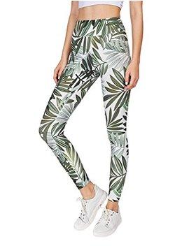 Sweaty Rocks Women's Stretchy Print Wokout Leggings High Waist Yoga Pants by Sweaty Rocks