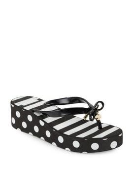 Rhett Striped And Polka Flip Flops by Kate Spade New York
