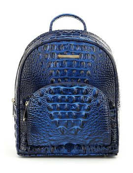 Brahmin Melbourne Collection Mini Dartmouth Crocodile Embossed Backpack by Brahmin
