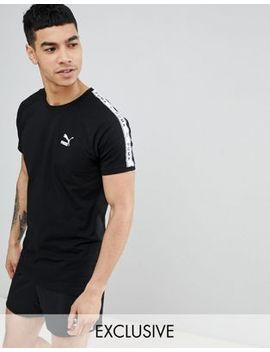 Puma T Shirt With Sleeve Taping In Black Exclusive To Asos by Puma