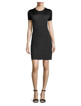Gwen Short Sleeve Sweater Dress, Black by Rag & Bone