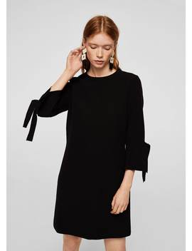 Pleated Sleeve Dress by Mango