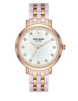 Rose Goldtone & Blush Pink Acetate Monterey Watch by Kate Spade New York