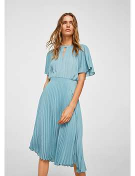 Pleated Skirt Dress by Mango