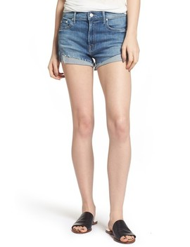 The Rascal Slit Flip Denim Shorts by Mother