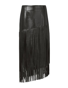 Mayaan Leather Fringe Skirt by Exclusive For Intermix