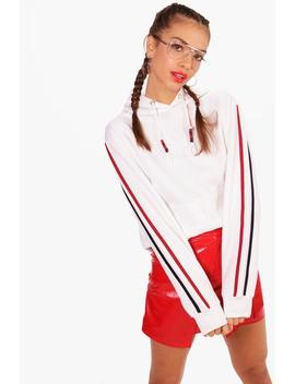 Scarlett Stripe Detailed Hoody by Boohoo