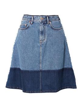 Halona Two Tone Denim Skirt by Acne Studios