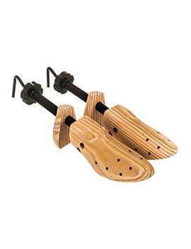 Hillington ® Pair Of Adjustable Wooden Shoe Stretchers With Detachable Pressure Pods And Strong Metal Crank   Relieves Pain, Blisters, Bunions And Corns Caused By Uncomfortable Shoes   Includes 4 Detachable Pressure Relief Pods To Stretch Specific Ar..... by Hillington