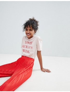 Monki Love Always Wins T Shirt by Monki