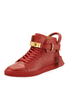 100mm High Top Sneaker, Red by Buscemi