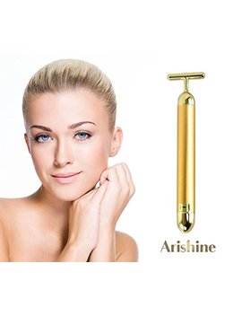 Arishine 24k Golden Pulse Facial Massager, Instant Face Lift, Anti Wrinkles,Skin Tightening, Face Firming,... by Arishine