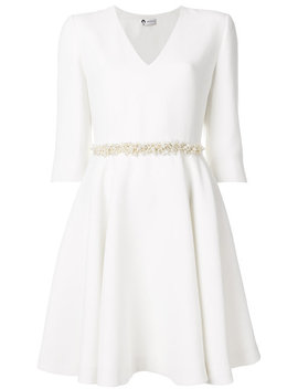 Pearl Belted V Neck Dress by Lanvin
