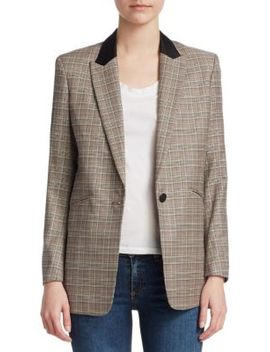 Ridley Plaid Blazer by Rag & Bone