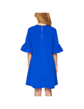 Ted Baker Elzpeth Frill Sleeve Playsuit, Mid Blue by Ted Baker