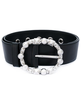 Studded Buckle Belt by Miu Miu