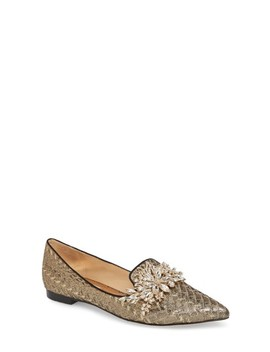 Mandy Embellished Loafer Flat by Badgley Mischka