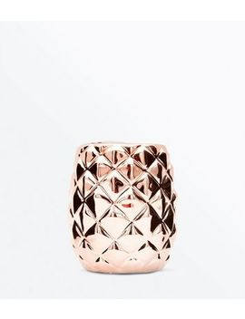 Rose Gold Pineapple Jar by New Look