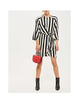 Humbug Stripe Crepe Mini Dress by Topshop