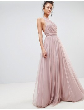 Asos Tall Premium Tulle One Shoulder Maxi Dress by Asos Tall