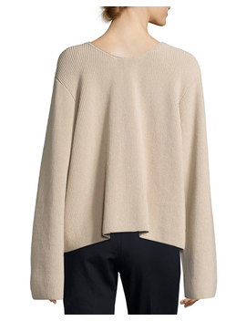 Grisa Ribbed Scoop Neck Sweater, Flesh by Neiman Marcus
