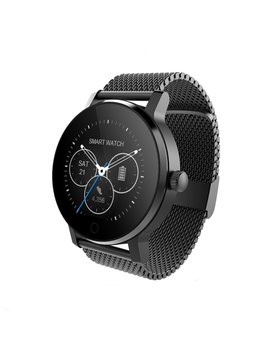 Sma 09 Smart Fitness Tracker Watch,Bluetooth Heart Rate Monitor Smartwatch For I Phone 5 5s 6 6s 6plus 7 7s 7plus 8 And Android Phone For Women Men Black Steel Strap by Sma