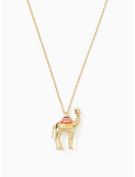 Kate Spade 12 K Gold Plated Spice Things Up Camel Mini Pendant Necklace New by Kate Spade