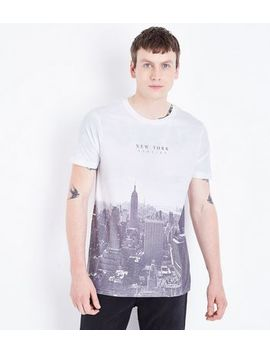 White New York Slogan Graphic Front T Shirt by New Look