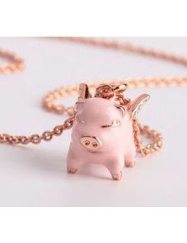 New Kate Spade Pink Multi Imagination Flying Pig Pendant Necklace W/Ks Dust Bag by Kate Spade