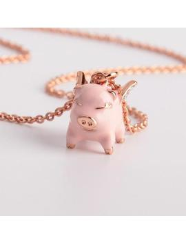 Kate Spade New York Flying Pink Pig Mini Pendant Necklace by Kate Spade