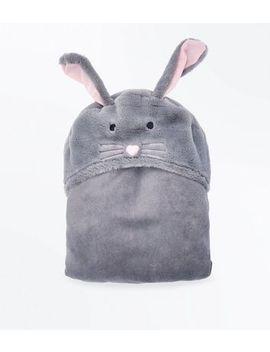Dark Grey Bunny Blanket by New Look