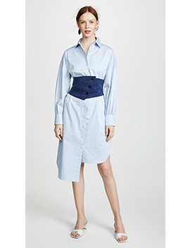 Corset Shirtdress by Tibi
