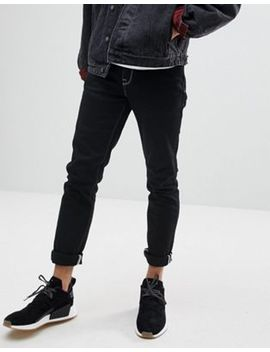 Asos Skinny Jeans In Black With Contrast Stitch by Asos