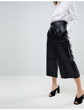 Girls On Film Faux Leather Culottes by Girls On Film