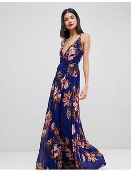 Asos Tall Floral Cami Pleated Maxi Dress by Asos Tall
