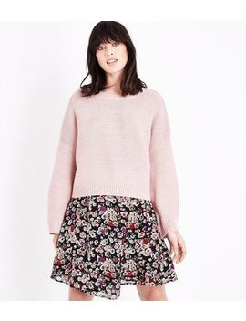 Pale Pink Wide Sleeve Jumper by New Look