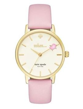 "Nib Kate Spade New York Metro ""When Pigs Fly"" Gold Tone Ladies Watch Ksw1230 by Kate Spade"