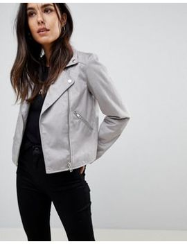 Asos Suedette Biker Jacket by Asos Collection