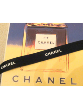 Chanel Ribbon   Authentic   Black With White Letters   1 Yard   (3  Feet) by Etsy