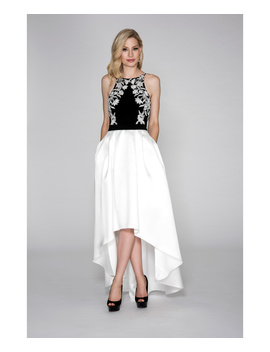 Jersey Halter With Hi/Low Skirt. by Cachet