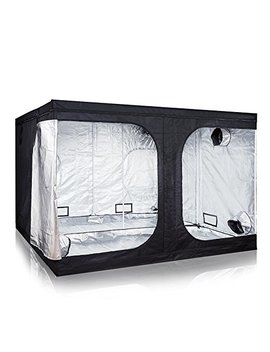 "I Power 120""X120""X78"" Hydroponic Water Resistant Grow Tent With Removable Floor Tray For Indoor Seedling Plant Growing by I Power"