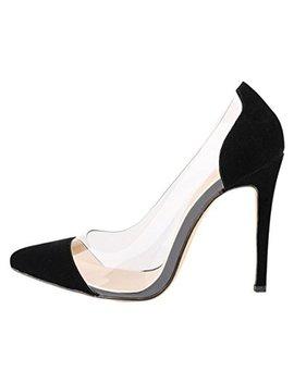Fereshte Ladies Womes Transparent Stiletto Heel Dress Court Shoes by Fereshte